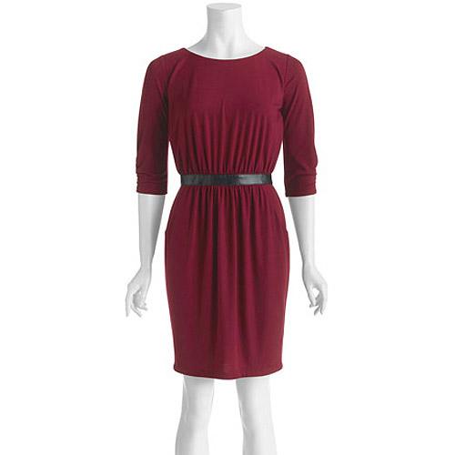 Stitch Women's Faux Leather Waistband Dress