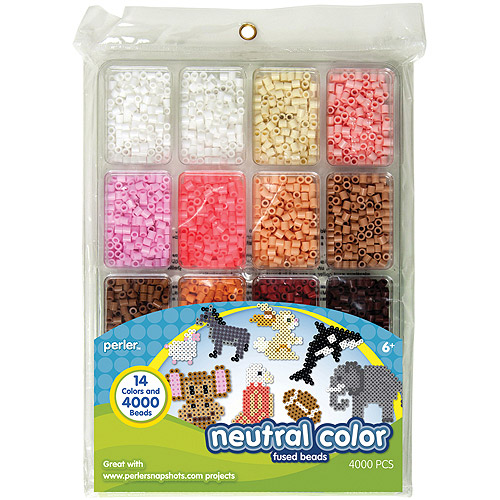 Perler Fun Fusion Beads, 4000-Pack, Neutral Color