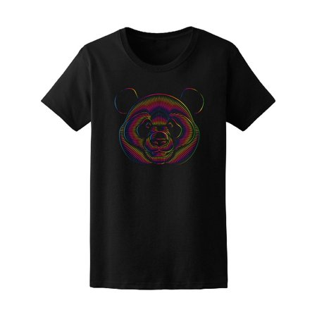 Psychedelic Graphic Panda Bear Tee Men's -Image by (Psychedelic Bear)