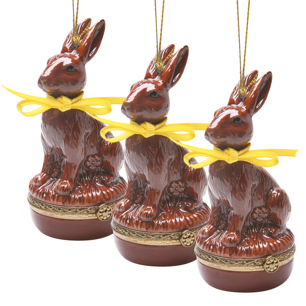 Easter Gift Idea - Surprise Opening Ornaments - Set Of 3 Bunnies