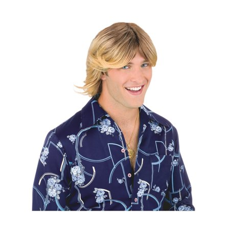Ladies Man Wig Adult- Blonde Halloween Costume - Blonde Wig With Bangs