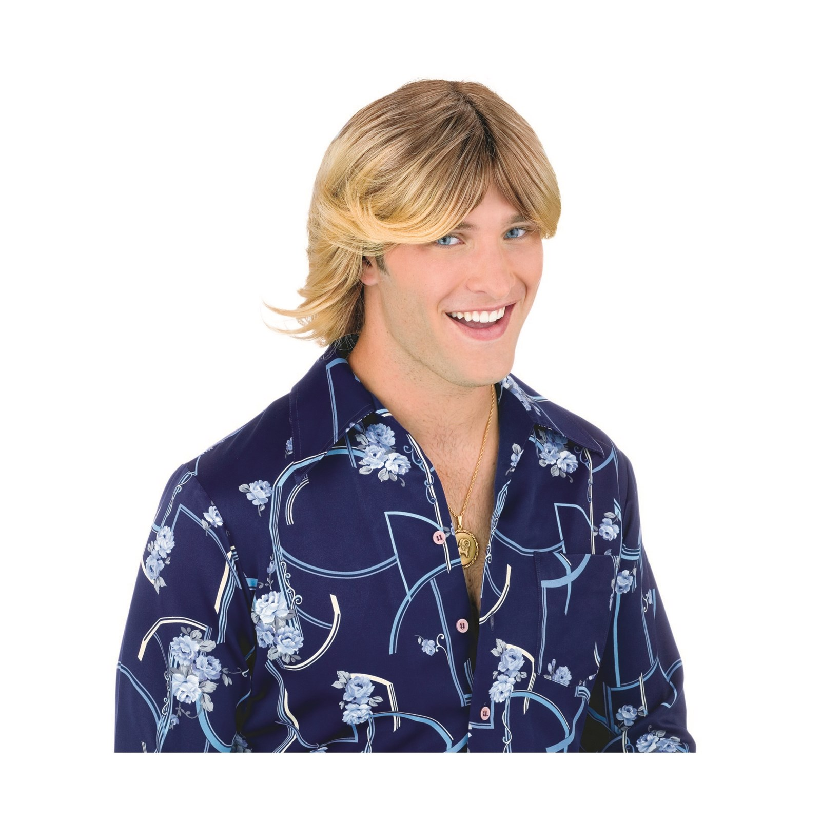 Ladies Man Wig Adult- Blonde Halloween Costume Accessory