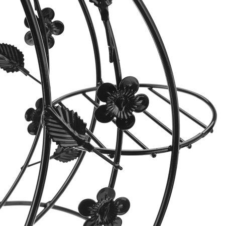 Plant Display Stand Garden Decor Flower Pot Shelve Holder Rack Indoor Iron Metal - image 5 de 8