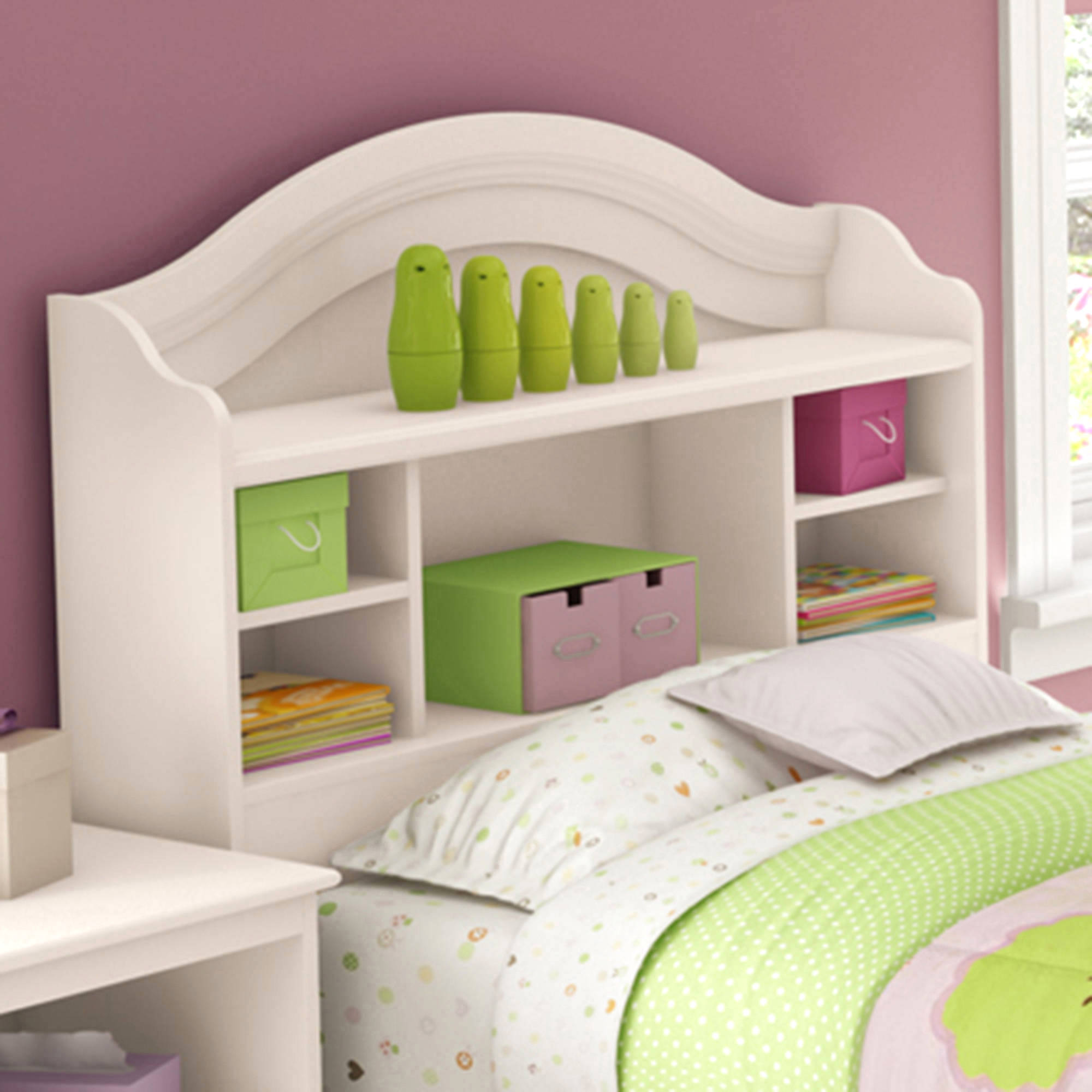 South Shore Savannah Twin Bookcase Headboard, 39'', Multiple Finishes