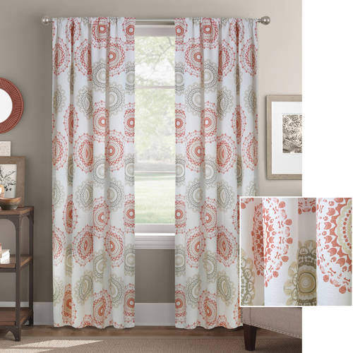 Better Homes and Gardens Kaleidescope Medallion Curtain Panel by Colordrift LLC