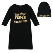 Everpert Newborn Boy Bodysuit Black and Gold Hospital Gown Baby Boy Gift-114328.01
