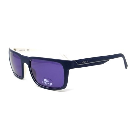 LACOSTE Sunglasses L866S 424 Matte Blue Rectangle Men's (Rectangle Sunglasses)