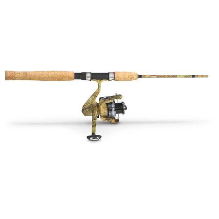 Jimmy houston camo combo 6 2 pc for Camo fishing pole
