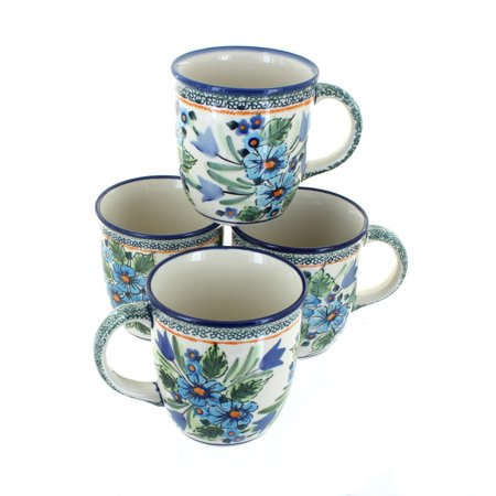Polish Pottery Ballina 4 Piece Coffee Mug Set