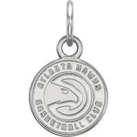 LogoArt NBA Atlanta Hawks Sterling Silver Extra Small Pendant