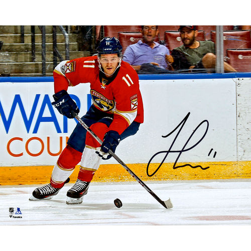 "Jonathan Huberdeau Florida Panthers Autographed 8"" x 10"" Red Jersey Skating Photograph No Size by Fanatics Authentic"
