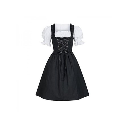 Maid Costume Ideas (MarinaVida Women German Dirndl Maid Dress Oktoberfest Beer Cosplay Costume)