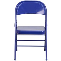 Flash Furniture 2 Pk. HERCULES COLORBURST Series Cobalt Blue Triple Braced & Double Hinged Metal Folding Chair