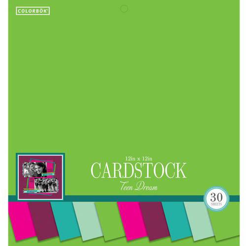 "Colorbok 12"" Smith Cardstock Pad, Teen Dream"