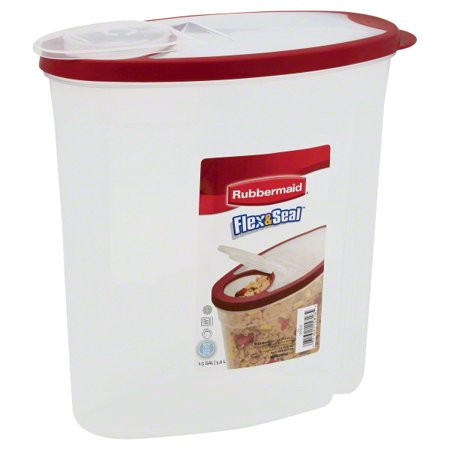 Rubbermaid Flex and Seal Cereal Keeper Food Storage Container, 1.5 Gallon/5.68 Liter (Rubbermaid Drink Containers)
