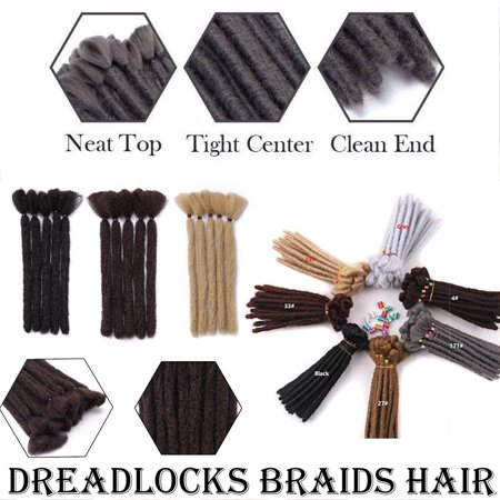 "S-noilite 6"" Dreadlock Extension Handmade Dread Synthetic Soft Fax Locs Crochet Twist Braiding Reggae Hair Hip-Pop Hair Box Braiding For Men Natural"