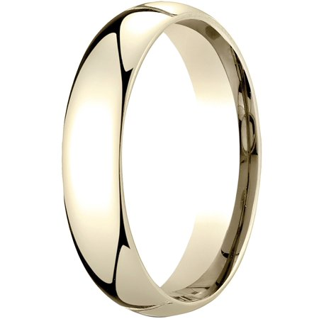 Womens 14K Yellow Gold, 5mm Slim Profile Comfort-Fit Wedding Band