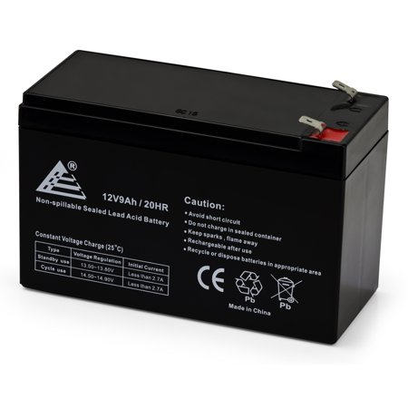 - 12V 9 Amp 12 Volt 9Ah Rechargeable Sealed Lead Acid Battery F2 Terminals