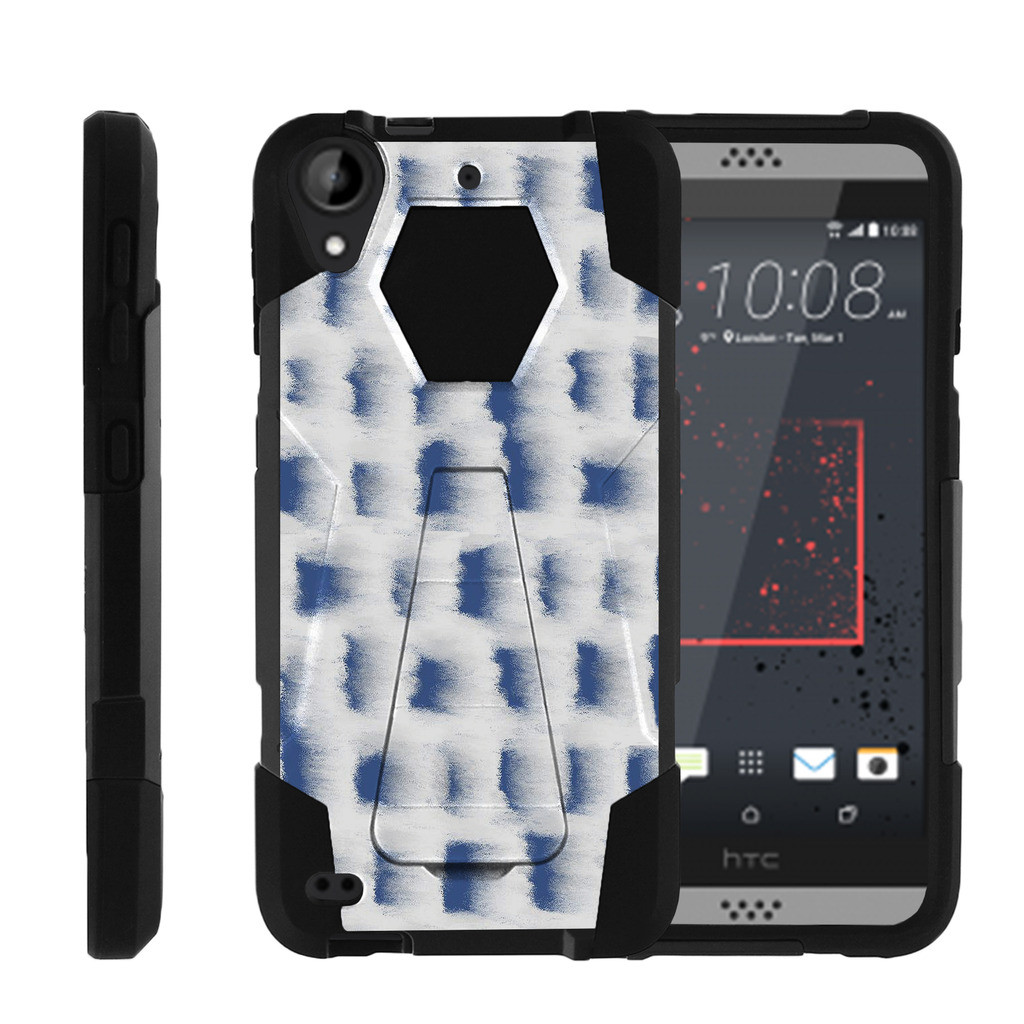 HTC Desire 530 | Desire 630 Shock Fusion Heavy Duty Dual Layer Kickstand Case -  Snow Architecture