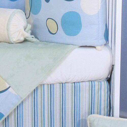 Brandee Danielle Minky Bubbles Flat Crib Sheet
