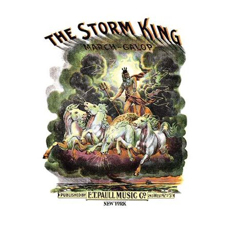 A beautiful E T Paull cover the tune has all the aspects of a thunder storm representing the Storm King who is dashing through the sky terrifing all below  Likely from Norse mythology  Edward Taylor P