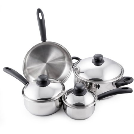 Mcsunley 7-Piece Basic Stainless Steel Cookware Set