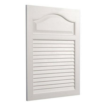 Jensen Medicine Cabinet White Grained Wood Look Louver Door 16W x 24H in. Medicine Cabinet 615