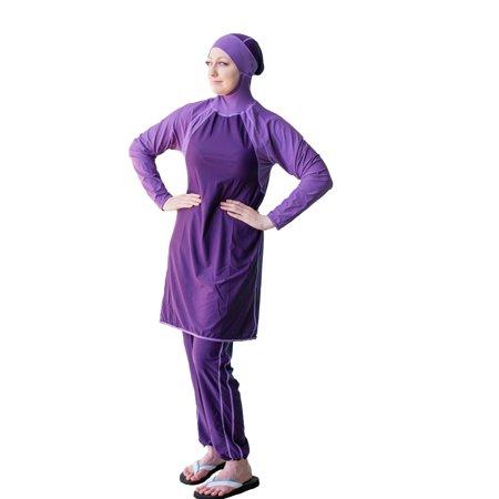 Al-Sharifa Women's Full Coverage Modest Swimsuit Hijab Hooded Islamic (Full Coverage Swimwear)