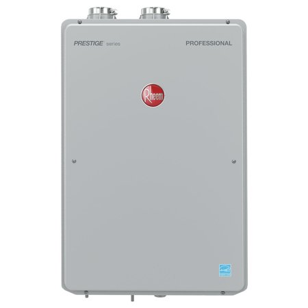 - Rheem RTGH-90DVLN-2 Prestige High Efficiency 9.0 GPM Natural Gas Indoor Tankless Water Heater