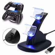 PS4 Dual Controller LED Charger USB Fast Charging Stand Dock Station for Sony PS4 Controller Charger With Charging Cable