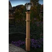 "Burton 72"" Composite Lamp Post, Brown"