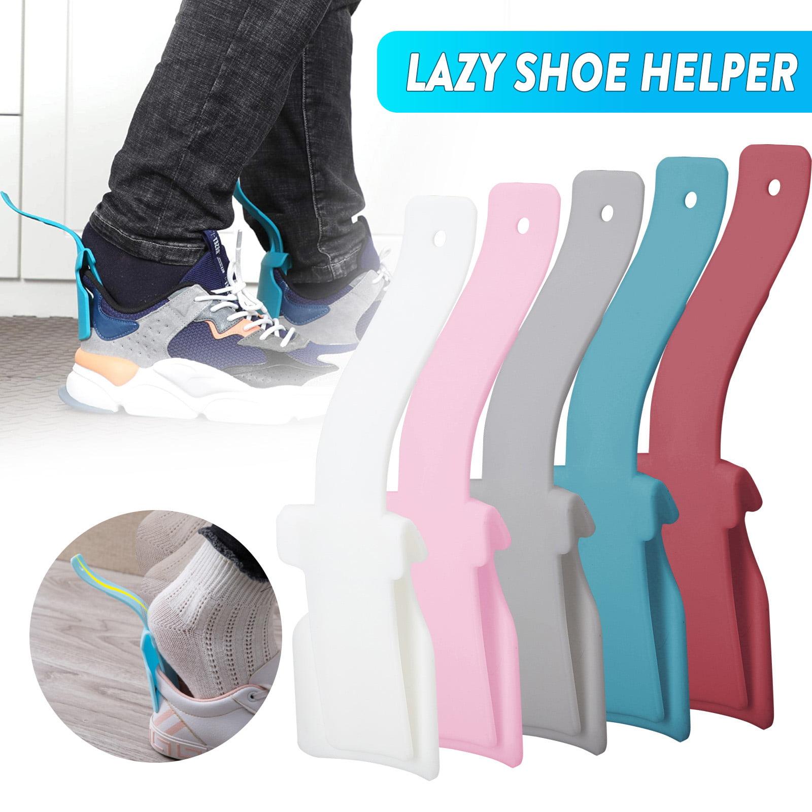 10 Pieces Lazy Shoe Helper Shoe Lifting Helper Shoe Portable Handled Shoe Horn for Most Shoes