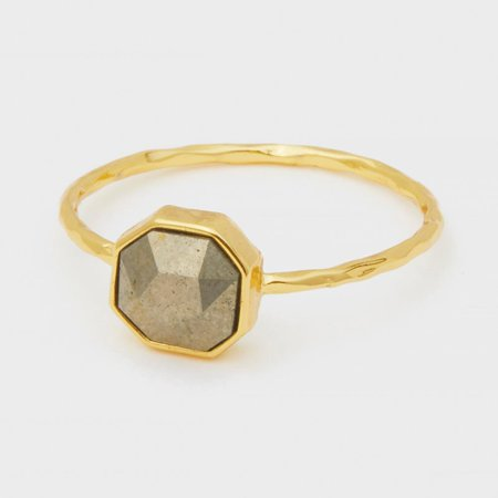 Gorjana Power Gemstone Labradorite Charm Ring In Gold - Golden Labradorite Ring