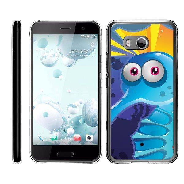 TurtleArmor ® | For HTC U11 | HTC Ocean [Flexible Case] Slim Fitted TPU Case - Cute Penguin