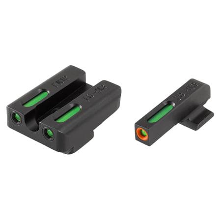 TRUGLO TFX PRO FNX 40 FIBER OPTIC GREEN TRITIUM W/ORANGE OUTLINE FRONT GREEN REAR (Tritium Fiber Optic)