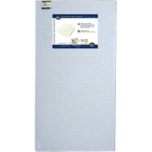 Serta Nightstar Firm Comfort Crib and Toddler Mattress, Thermo-Bonded Core by Serta