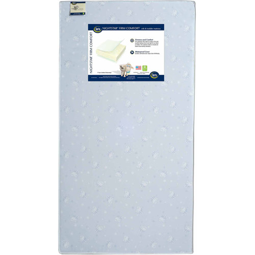 Serta Nightstar Firm Comfort Crib and Toddler Mattress, Thermo-Bonded Core