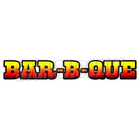 BAR-B-QUE Concession Decal bbq barbeque sign smoker pit cart trailer