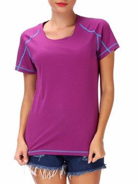 8fcab070120e Product Image Women s Plus Size Short Sleeve Tee Yoga Shirt Workout Tunics  Tops M-4XL White