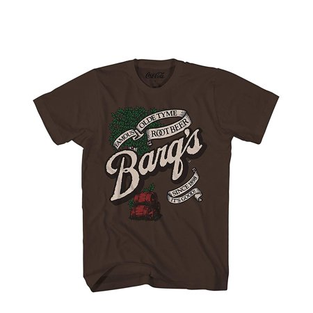 Logo Vintage T-shirt - Barq's Root Beer Soda Pop Drink Funny Classic Vintage Logo Men's Adult Graphic Tee T-Shirt