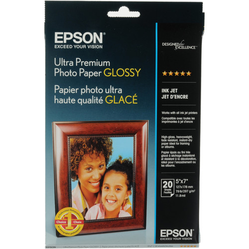 "Epson S041945M Ultra Premium Photo Paper 5"" x 7"