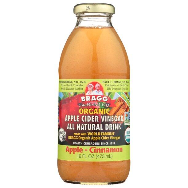 Bragg Apple Cider Vinegar Drink Organic Apple Cinnamon, 16 ...