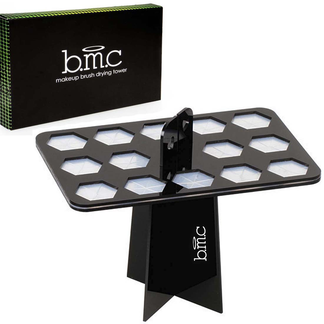BMC Single Tier Folding Collapsible Air Drying Makeup Brush Organizing Towers