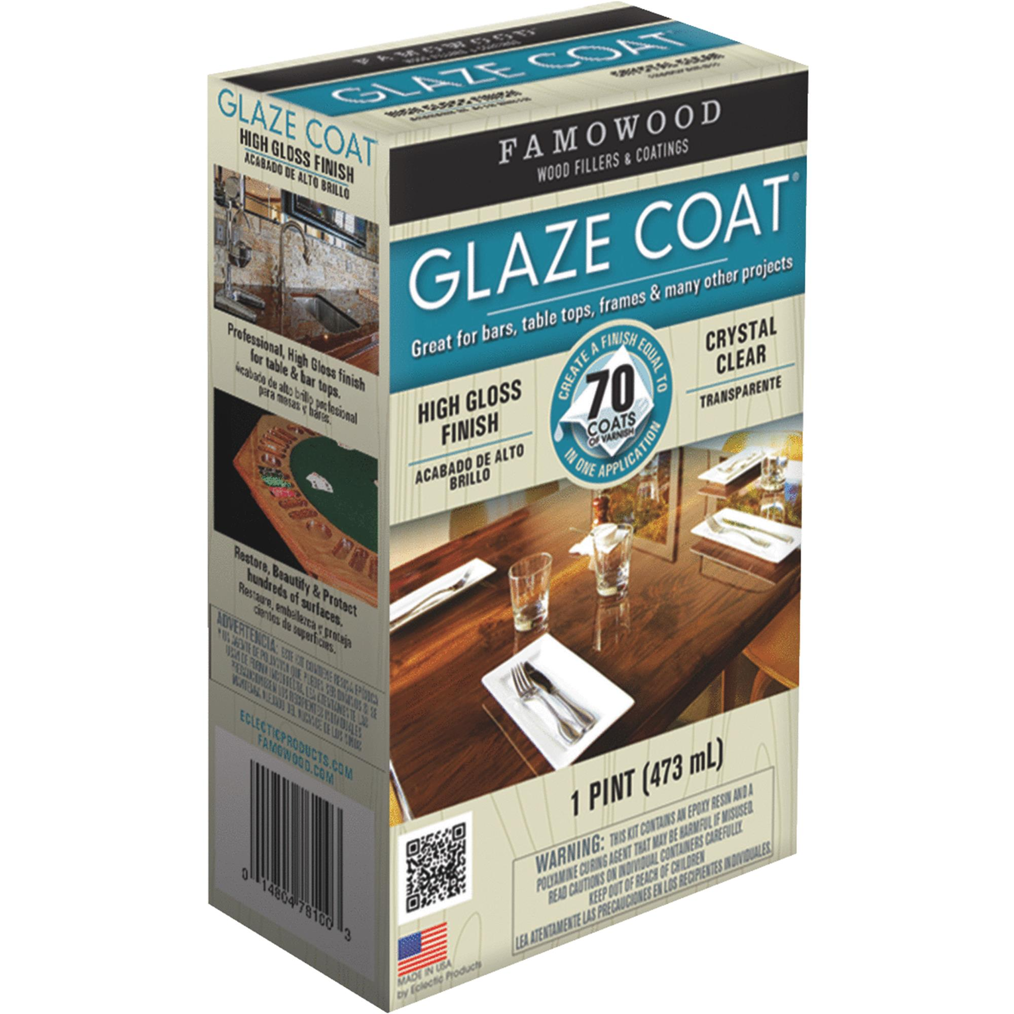 Famowood 5050060 1 Pint Crystal Clear Glaze Coatᅡᆴ High Gloss Epoxy Coating