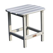 Outdoor Adirondack End Table in White