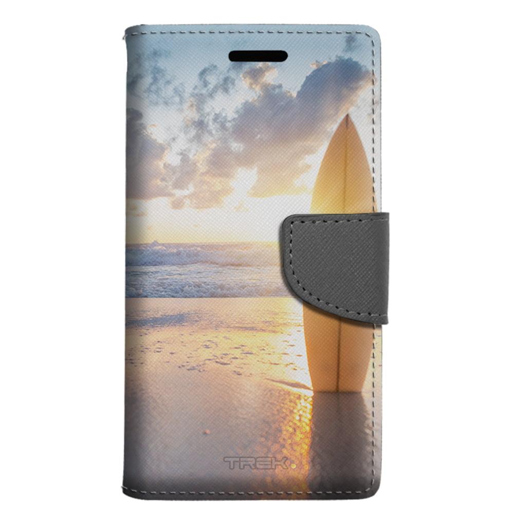 Apple iPhone SE Wallet Case - SurfBoard Sunset Case