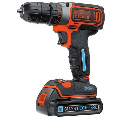 BLACK+DECKER 20-Volt MAX* Smartech Cordless Lithium Drill, BDCDDBT120C