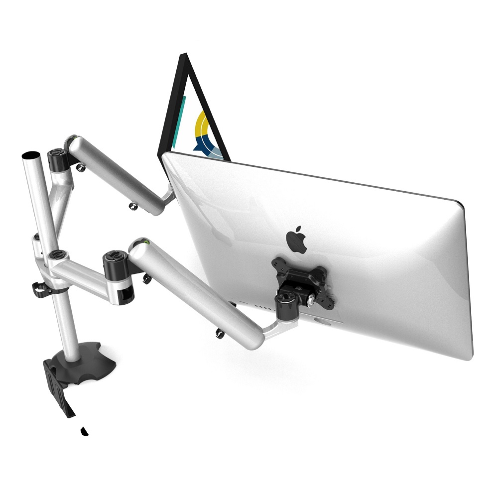 Cotytech Dual Monitor Desk Mount for Apple w/ Full Motion & Quick Release