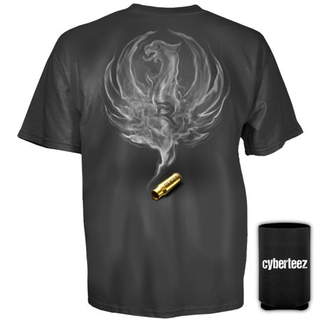 (Sturm Ruger & Co Smoked Bullet Eagle Logo Firearms T-Shirt + Coolie (S))