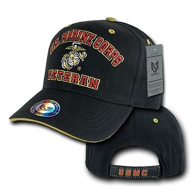 United States US Marines USMC Combat Military Veteran Vet Baseball Ball Hat Cap ()